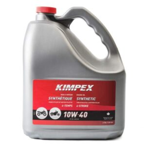 3.78 litre jug of kimpex 10W40 atv or snowmobile 4 stroke engine oil