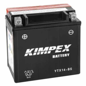 maintenance free ytx14-bs atv & utv battery