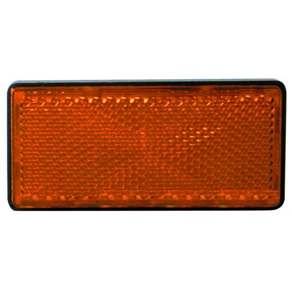 rectangular amber reflector for snowmobile safety